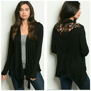 Sweaters - Black lace Cardigan